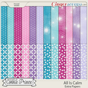All Is Calm - Extra Papers by Connie Prince