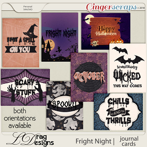 Fright Night: Journal Cards by LDragDesigns