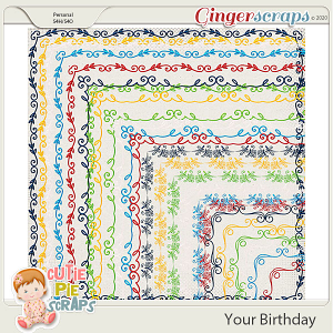 Your Birthday Page Borders