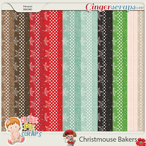 Christmouse Bakers Pattern Papers