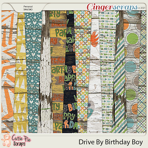 Drive By Birthday Boy Wood Papers