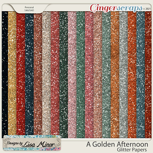 A Golden Afternoon Glitter Papers from Designs by Lisa Minor