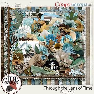Through The Lens of Time Page Kit by ADB Designs