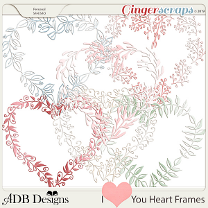 I Heart You Frames by ADB Designs