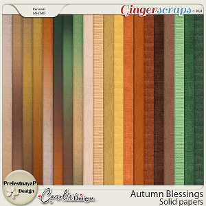 Autumn blessings Solid papers by PrelestnayaP Design and CarolW Designs