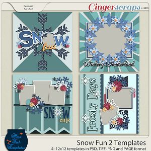 Snow Fun 2 Templates by Miss Fish