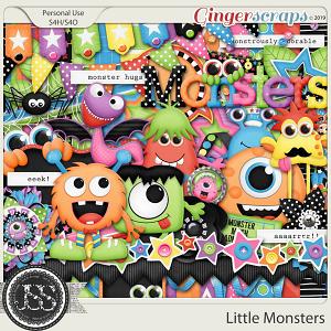 Little Monsters Digital Scrapbook Kit