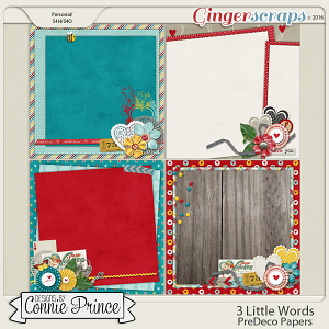 3 Little Words - PreDeco Papers