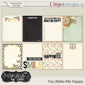 You Make Me Happy Journal and Pocket Scrapbooking Cards