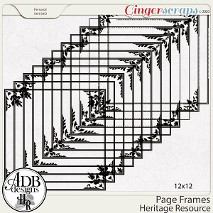 Heritage Resource Frames Page Borders by ADB Designs