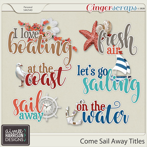 Come Sail Away Titles by Aimee Harrison