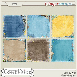 Sea & Me - Messy Papers by Connie Prince