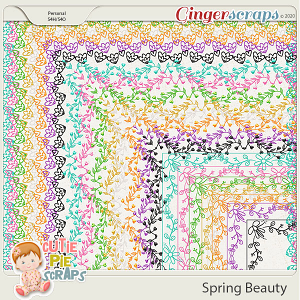 Spring Beauty-Page Borders