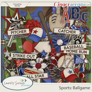 Sports: Ballgame Page Kit
