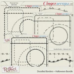 Doodled Borders ~ Halloween Bundle
