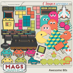 Awesome 80s ARCADE PACK by MagsGraphics