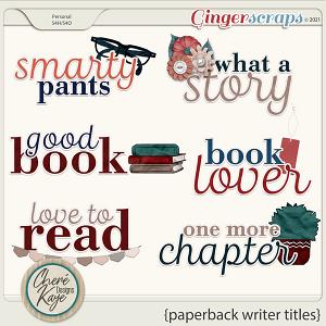 Paperback Writer Titles by Chere Kaye Designs