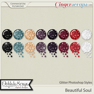 Beautiful Soul Glitter CU Photoshop Styles