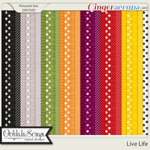 Live Life Pattern Papers