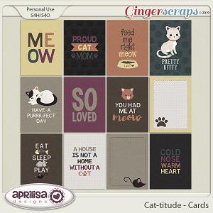 Cat-titude - Cards by Aprilisa Designs