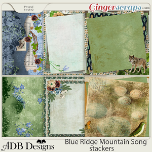Blue Ridge Mountain Song Stackers by ADB Designs