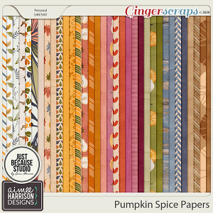 Pumpkin Spice Paper Pack by Aimee Harrison and JB Studio