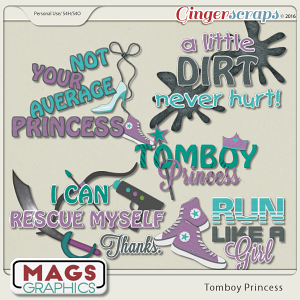 Tomboy Princess WORD ART
