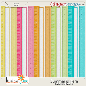 Summer is Here Embossed Papers by Lindsay Jane