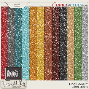 Dog Gone It Glitter Sheets by Tami Miller and Aimee Harrison