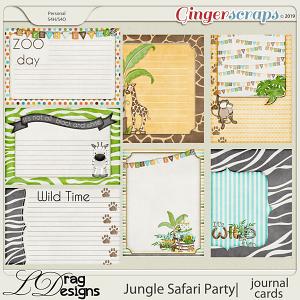 Jungle Safari Party: Journal Cards by LDragDesigns