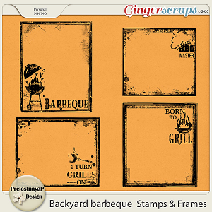 Backyard barbeque Stamps & Frames