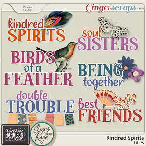 Kindred Spirits Titles by Aimee Harrison and Chere Kaye Designs