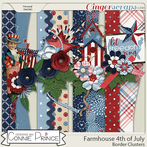 Farmhouse 4th of July - Border Clusters by Connie Prince