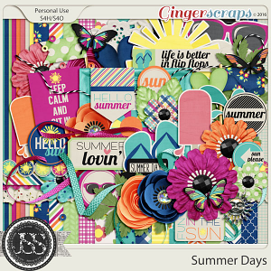 Summer Days Digital Scrapbooking Kit
