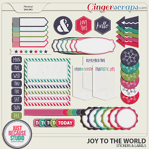 Joy To The World Stickers & Labels by JB Studio