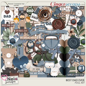 Best Dad Ever - Full Kit - by Neia Scraps