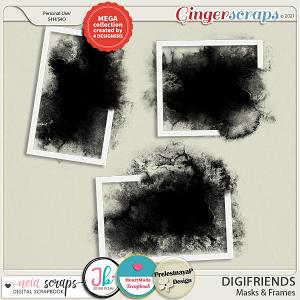 Digifriends - Masks & Frames - Collab by Neia Scraps + 3