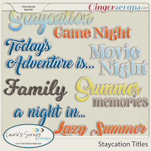 Staycation Titles