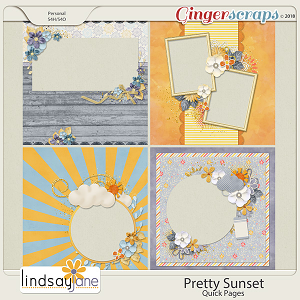 Pretty Sunset Quick Pages by Lindsay Jane