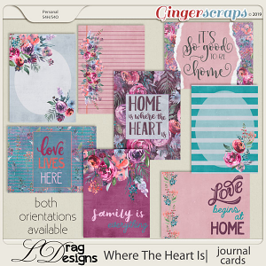Where The Heart Is: Journal Cards by LDragDesigns
