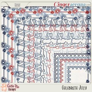 Celebrate July-Page Borders