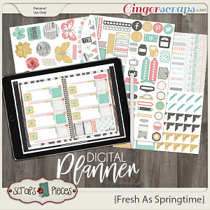 Fresh as Springtime Planner Pieces - Scraps N Pieces