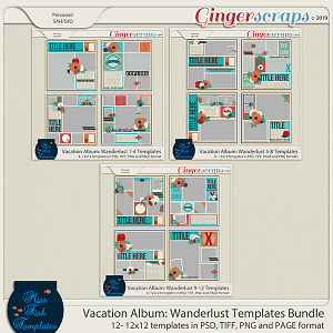Vacation Album: Wanderlust Templates Album by Miss Fish