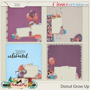 Donut Grow Up Quick Pages by The Scrappy Kat