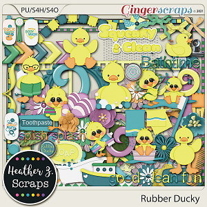 Rubber Ducky ELEMENTS by Heather Z Scraps