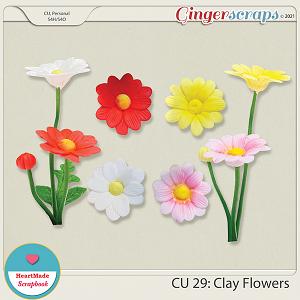 CU 29 - Clay flowers