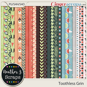 Toothless Grin PAPERS by Heather Z Scraps