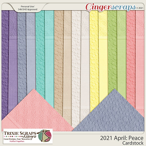 2021 April: Peace Cardstock by North Meets South Studios