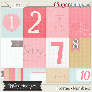 Frosted- Numbers