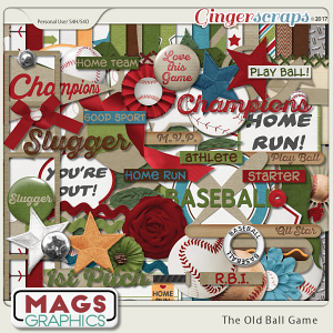 Old Ball Game KIT by MagsGraphics